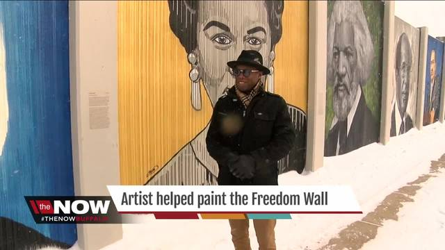 Local artist helped paint the Freedom Wall