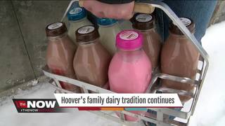 Dairy still uses glass bottles and delivers