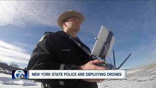 Drones take off to help NYS Police