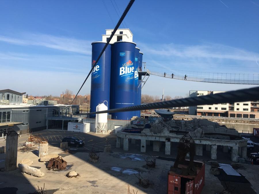 silo to silo  soaring through buffalo on a new zip line