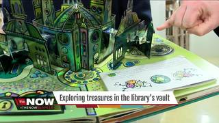 Taking a tour of the library's hidden vault