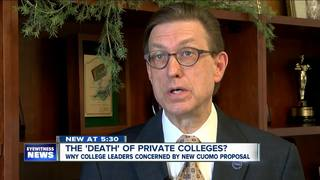 The death of private colleges in New York?