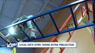 Local kids gyms taking extra precautions