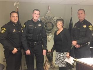 K9 Officer named after former Sheriff