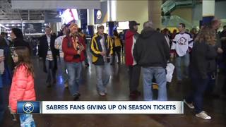 Sabres fans giving up on season seats