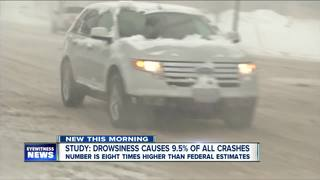 Study: 9.5% of crashes caused by drowsy driving