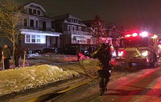Buffalo firefighter hurt working overnight fire