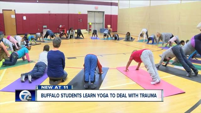 Buffalo students learn yoga to deal with trauma