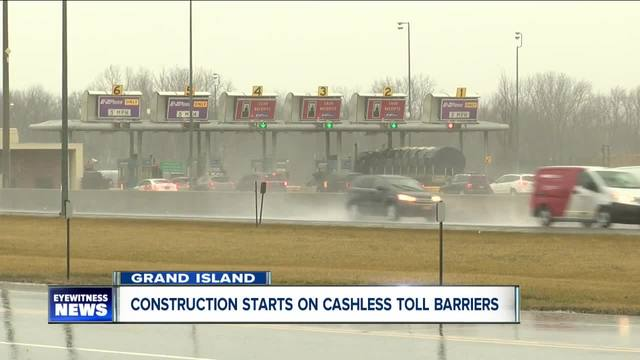 Construction starts on cashless toll barriers