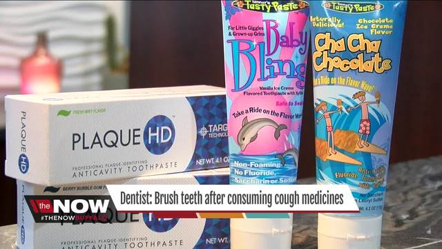 Dentist- Brush teeth after taking cough medicines