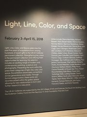 'Light, line, color, and space' exhibit at UB