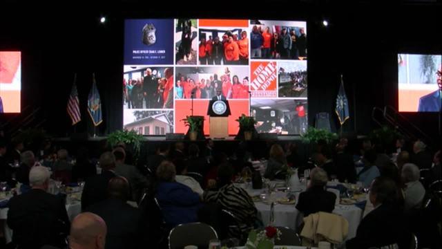 Buffalo police officer Craig Lehner promoted posthumously -Raw video-