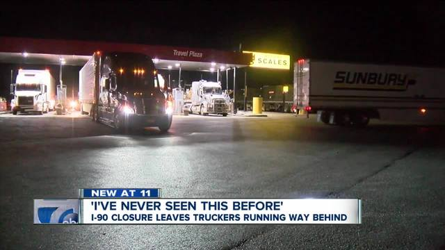 Police activity closes a section of the Thruway in WNY