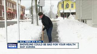 Shoveling snow could cause heart attack