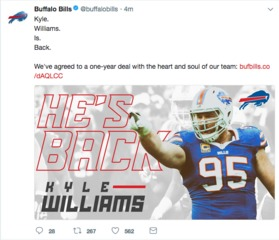 Kyle Williams sticking with the Bills