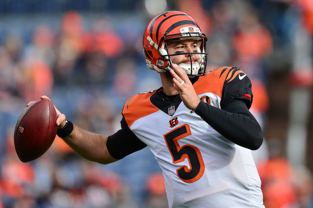 Denver Co November Sembilan Quarterback Aj Mccarron Lima Of The Cincinnati Bengals Throws As He Warms Up Before A Game Against The Denver Broncos At Sports
