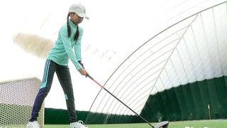 Zhang competing at Drive, Chip & Putt Finals