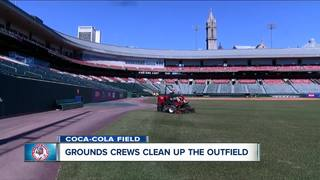 Bisons grounds crew gets back to work for 2018