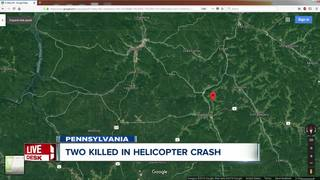 Two dead after chopper crash in Pennsylvania