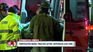 Buffalo firefighter taken to hospital after fire