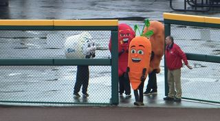 Bisons introduce new characters to mascot race