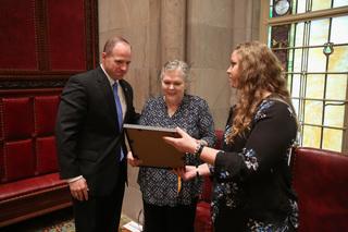 Lt. Lehner's family honored on Senate floor