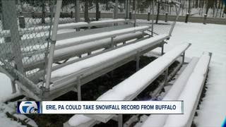 Erie, Pa., could take snow record from Buffalo