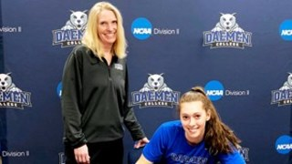 Daemen's Sara Saba signs first pro contract