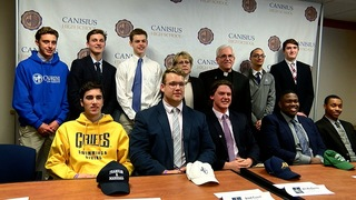Ten Canisius students playing college athletics