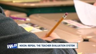 Nixon vows to repeal teacher evaluations