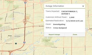 5,400 lose power overnight