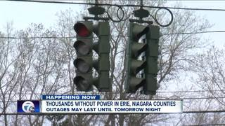 Thousands without power in Erie, Niagara Co.