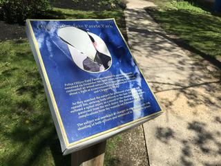 Patty Parete memorial plaque defaced