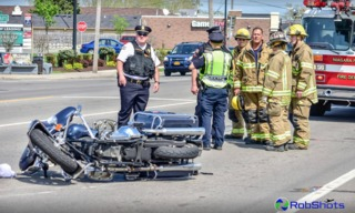 Two injured in afternoon motorcycle crash