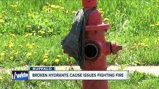 Fire hydrants dry as firefighters battle blaze