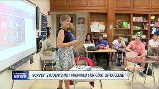 Survey: students not prepared for college cost