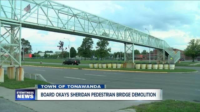 town of tonawanda board approves sheridan drive pedestrian bridge demolition