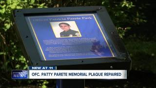 Vandalized fallen officer memorial repaired