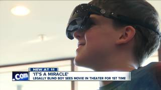 Blind boy sees movie in theater for the 1st time