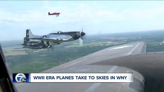 Heritage Flight in WNY shows off WWII-era planes