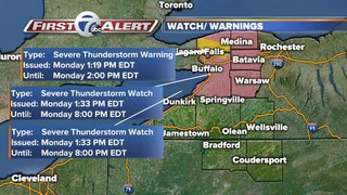 Severe Thunderstorm Watch for WNY | Live Radar