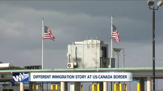 Different story at U.S.-Canada border