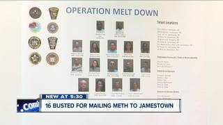 16 busted for drug trafficking in Jamestown