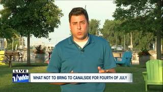 What's allowed at Canalside for the 4th of July?