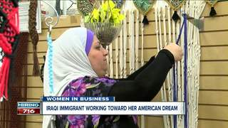 Iraqi immigrant makes a business out of textiles