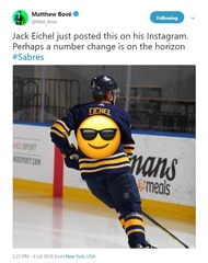 What number could Jack Eichel be changing to?