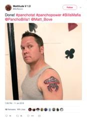 Bills fan gets tattoo of another Bills fan