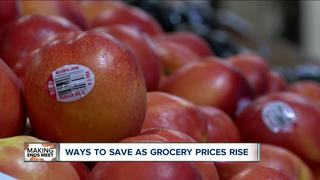 Ways to save as grocery prices rise
