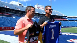 NASCAR driver Clint Bowyer tours One Bills Drive