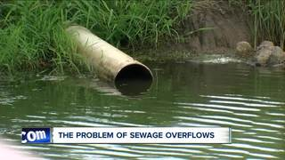 Storms cause huge overflow of sewage